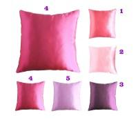 satin throw pillow pink satin pillow purple by ...