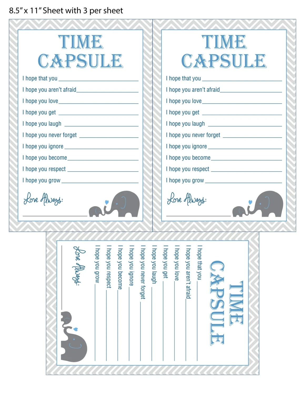 Baby Time Capsule Baby Shower Game Dear Baby By Designsbylindsayy