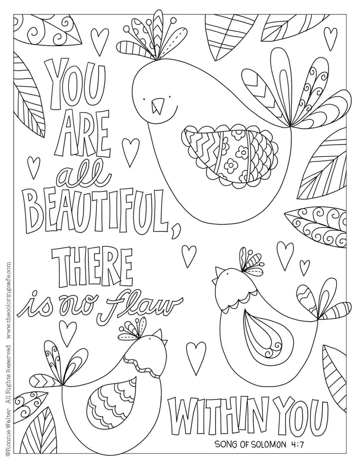 Coloring Cafe® Coloring Pages Download Set of 4 Bible