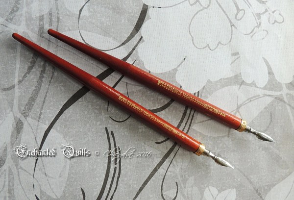 Vintage Handcrafted Solid Wood Calligraphy Dip Pen - Eagle