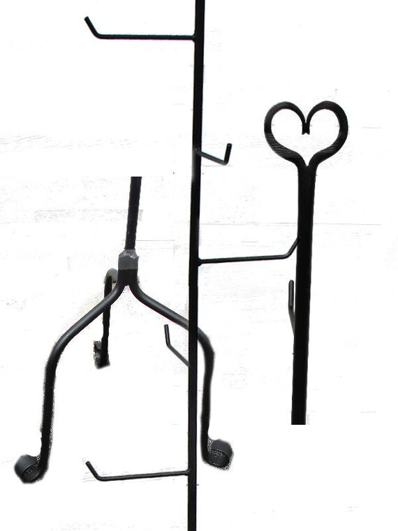 Wrought Iron 65 Tall Basket Stand Craft Show Display