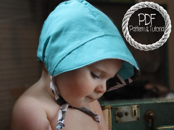 Baby Bonnet Sewing Pattern, DIY, Classic Bonnet Pattern, Easy Sewing Pattern, Bonnets