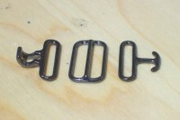 Bow tie hook and eye clasp with slide adjuster (10 sets ...