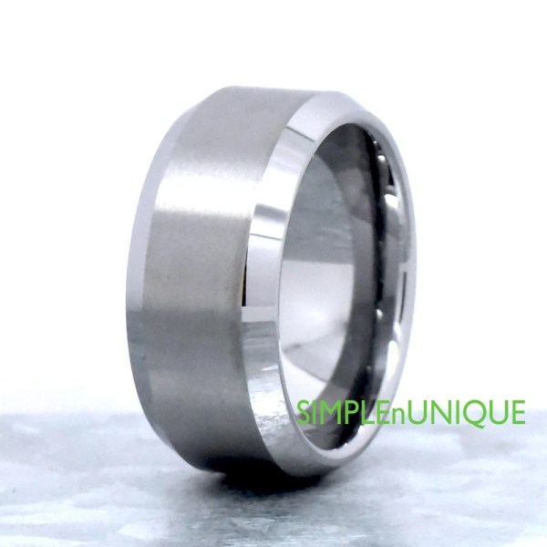 Thick Wide 10mm Mens Ring Tungsten Wedding Band