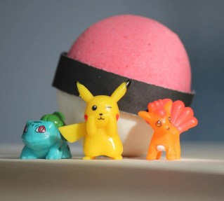 "Pokemon Bath Bomb With the popularity of Pokémon not only reaching kids and teens but also spanning to adults, I'm sure there is a Pokémon lover in your life that ""needs"" one of these gifts. thekeeledeal.com"