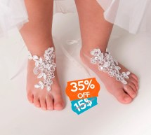 Baby Lace Barefoot Sandals Toddler Footless Kids