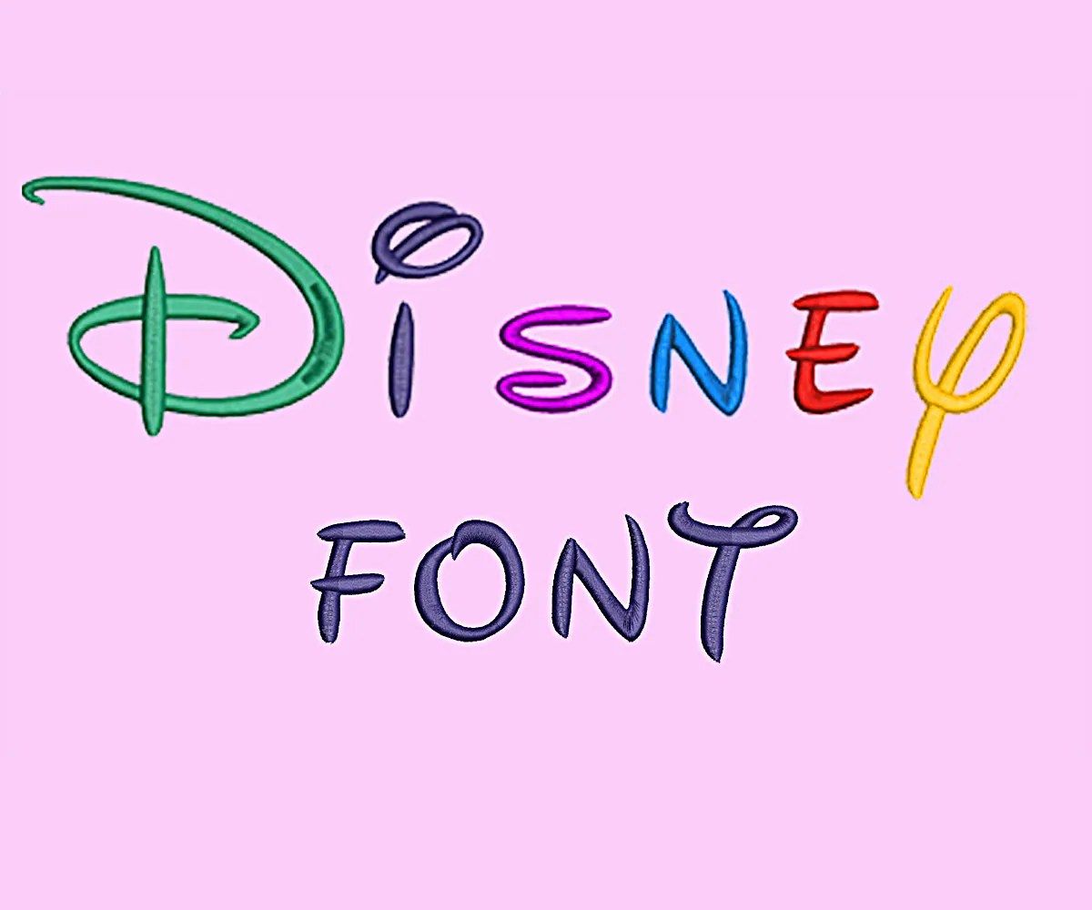 Disney Embroidery Font Design Alphabet Machine 26 Uppercase
