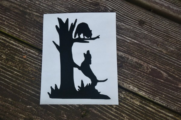 Coon Hunting Dog Treeing Decal