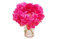 Fuchsia Pink Peonies in Vase Faux by TheFrenchBeeAndCo on Etsy