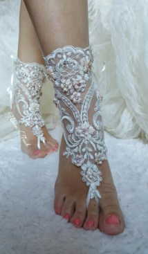 Barefoot Sandals Iovry Beach Wedding Shoes Bangle