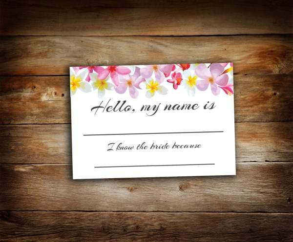 Bridal Shower Tags Guest Bride