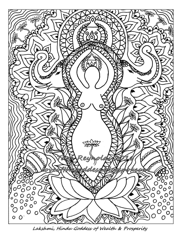 Printable Mandala Coloring Page Coloring Book Page Pagan Art