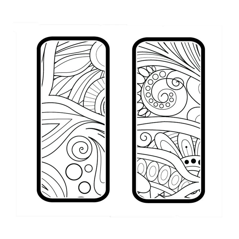 Digital Floral Rectangle Pattern for Etching Earrings