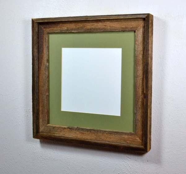 12 X Barnwood Frame With Mat 10x10 8x8