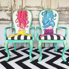 The Mermaid Chair Padded Shower With Back And Arms Sold Chairhand Paintedfrench Provinvial