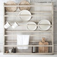 Plate Rack Plate Holder Wall Mounted Plate Shelf
