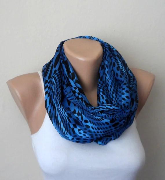 royal blue infinity scarf royal blue black chiffon by