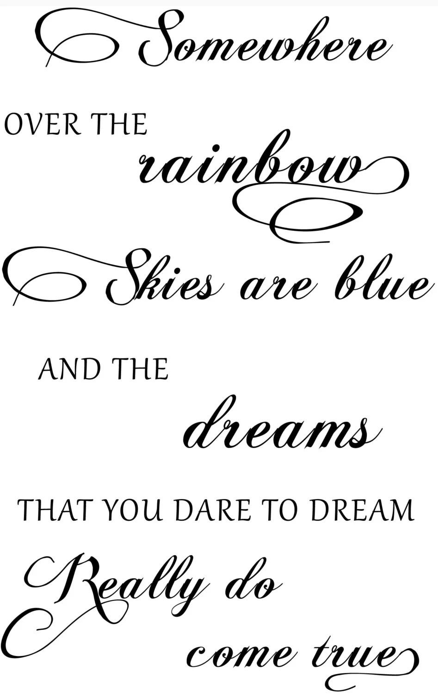 Somewhere Over The Rainbow Custom Decal by