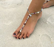 Barefoot Sandals Purple And Teal