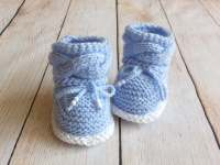 Hand knit Baby boy booties Knitted baby booties Baby