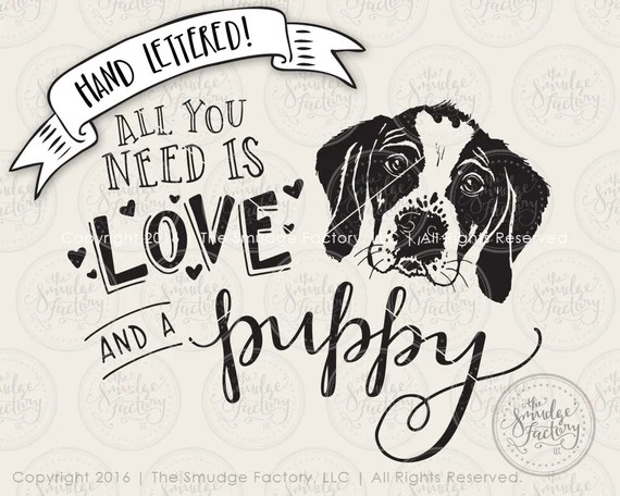 Download Puppy SVG Cut File Dog Cutting File Baby Tee All You Need