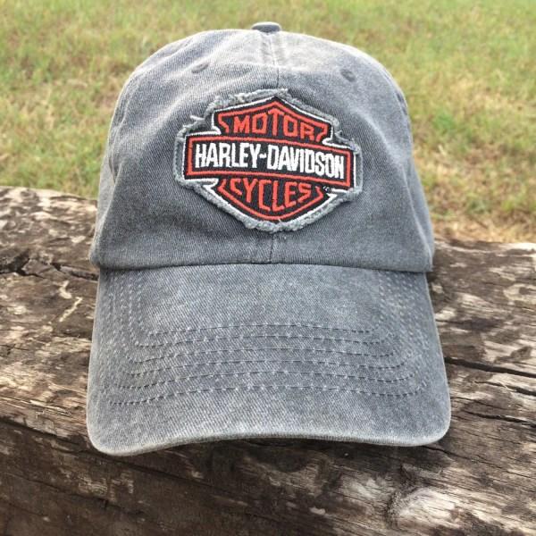 Harley Davidson Denim Baseball Cap Vintage Trucker Hat