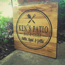 Custom Patio Sign Bar And Grill Father'