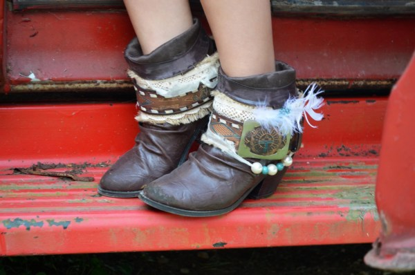 Brown Leather Boot Cuffs Wedding Covers