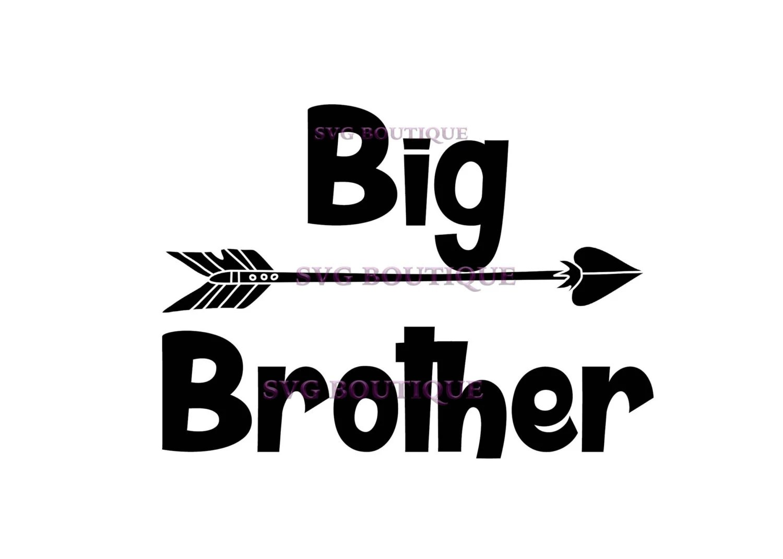 Big Brother Svg Brother Svg Arrow Little Boy Vector