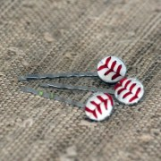 real leather baseball stitch hair