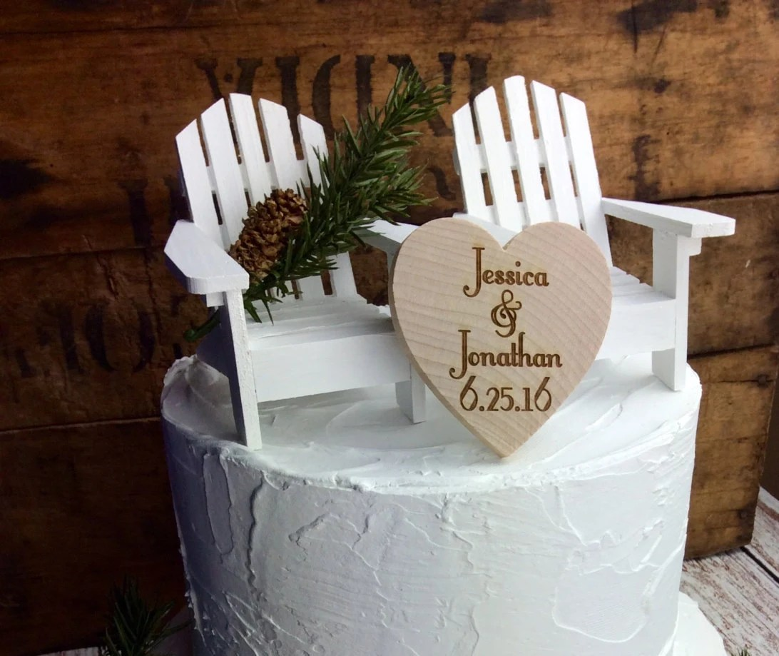 adirondack chair cake topper eno hanging wedding by spruceandhemlockco