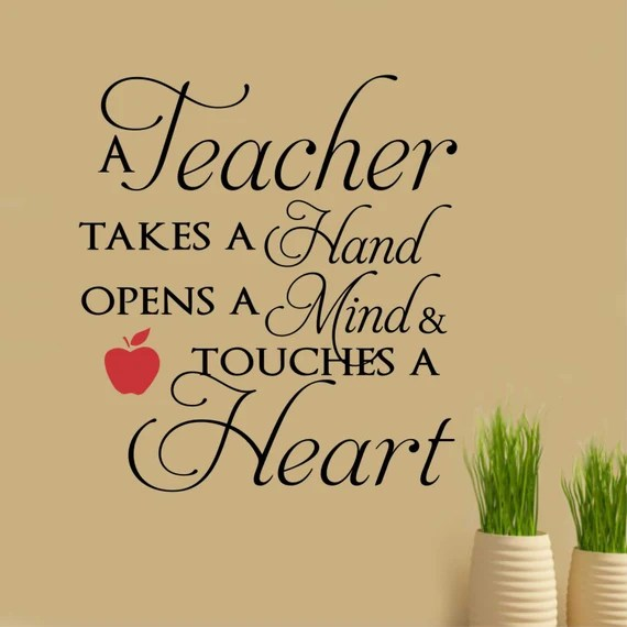 A Teacher Opens a Mind Wall Quote by WallsThatTalk