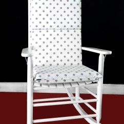 Polka Dot Rocking Chair Cushions Cushion Set Canada Cover White Grey