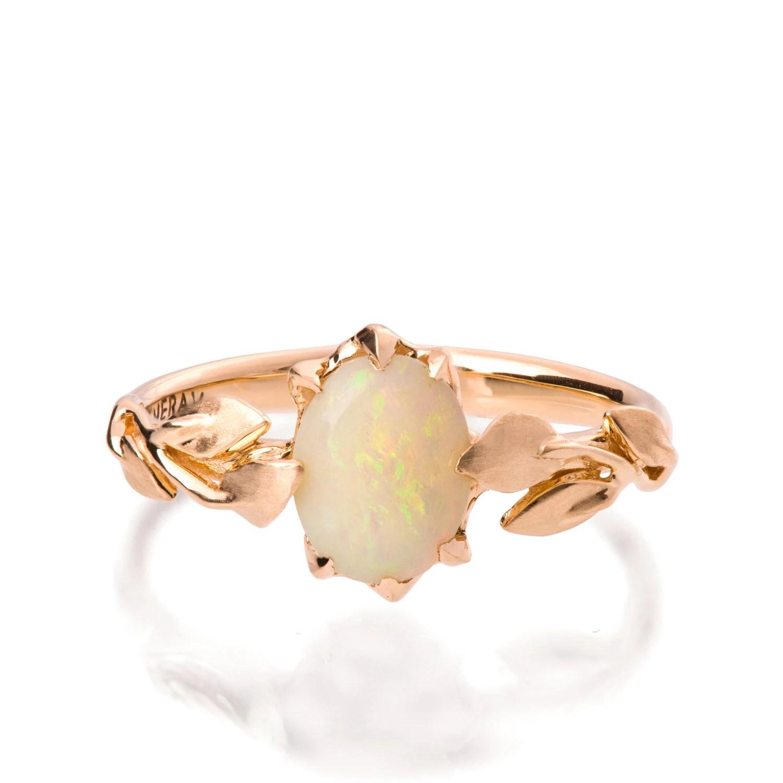 Opal engagement ring Opal ring Opal 18K Rose Gold Ring Opal