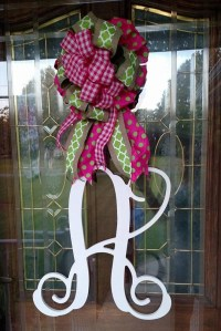Items similar to Front Door Decor, Monogram Door Hanger ...