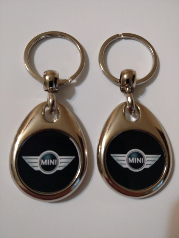Mini Cooper Keychain 2 Pack Double Sided Logo
