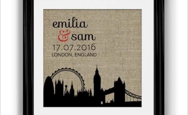 London Skyline Wedding Gift London Wedding Personalized