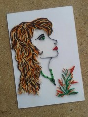 woman. .quilling.wall