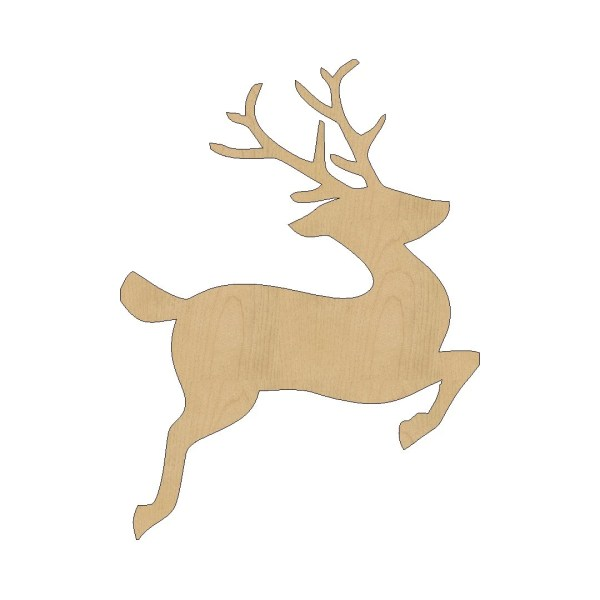Reindeer Cutout Shape Laser Cut Unfinished Wood Shapes