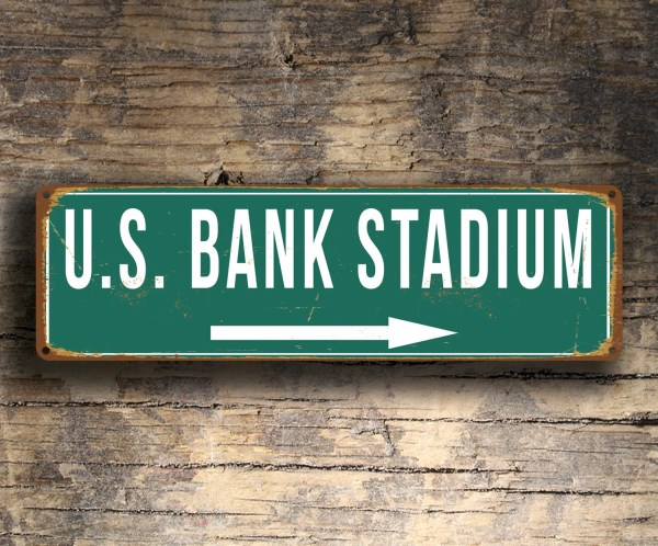 Bank Stadium Sign Vintage Style Signs