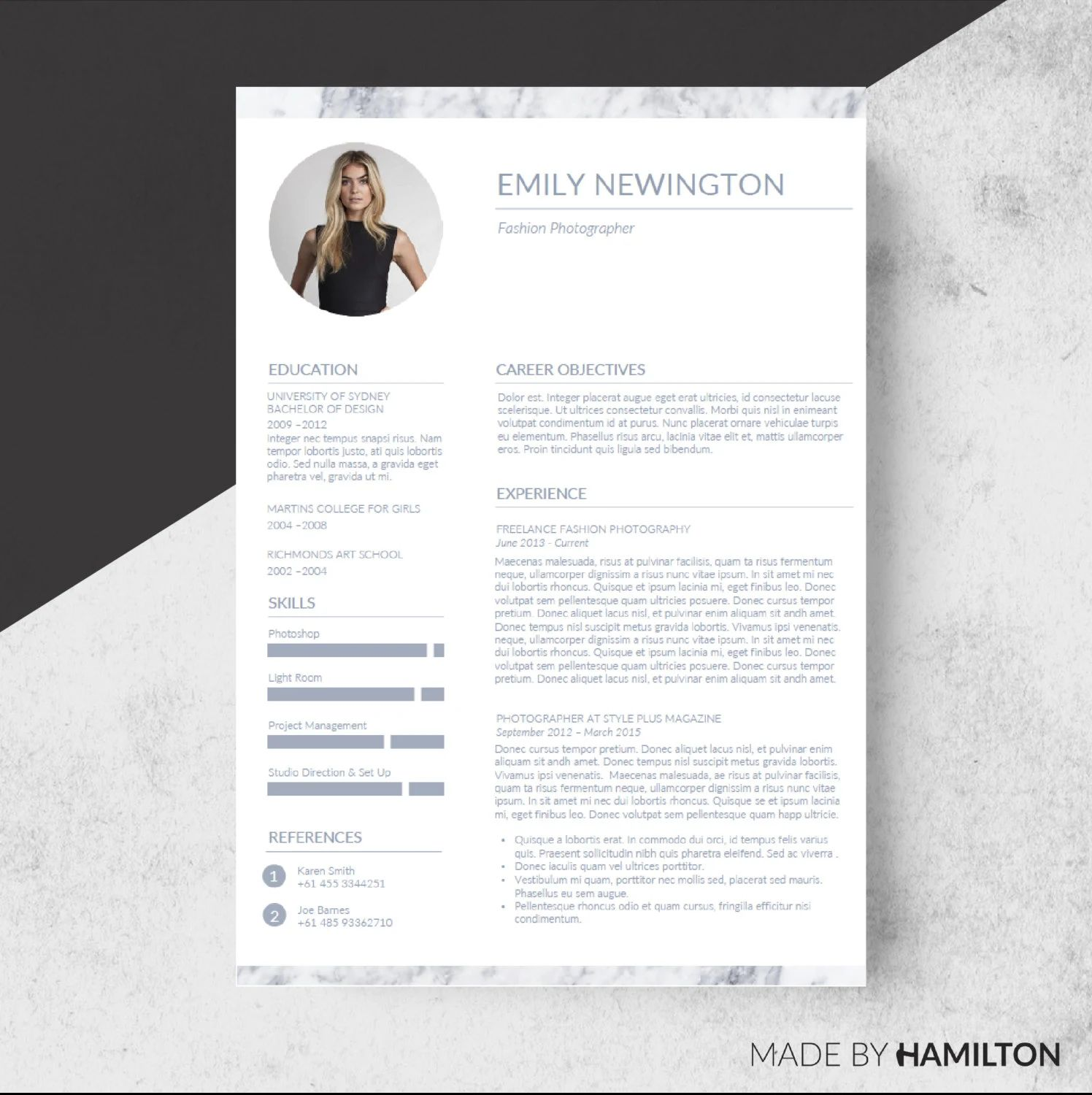 template for resume and cover letter