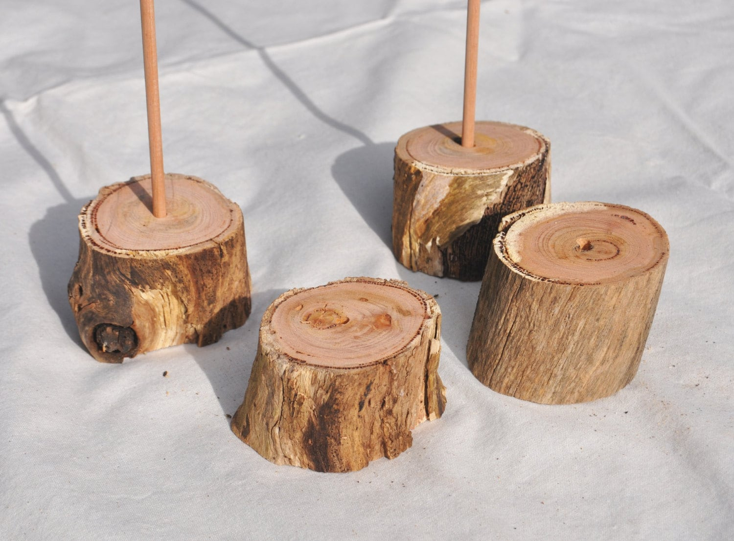 Rustic Wood Table Number Holders Wedding Table Number Stand