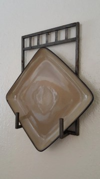 Items similar to Plate holder Iron wall plate holder mild ...