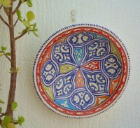 DECORATIVE PLATE COLORFUL Wall Art Ceramic by
