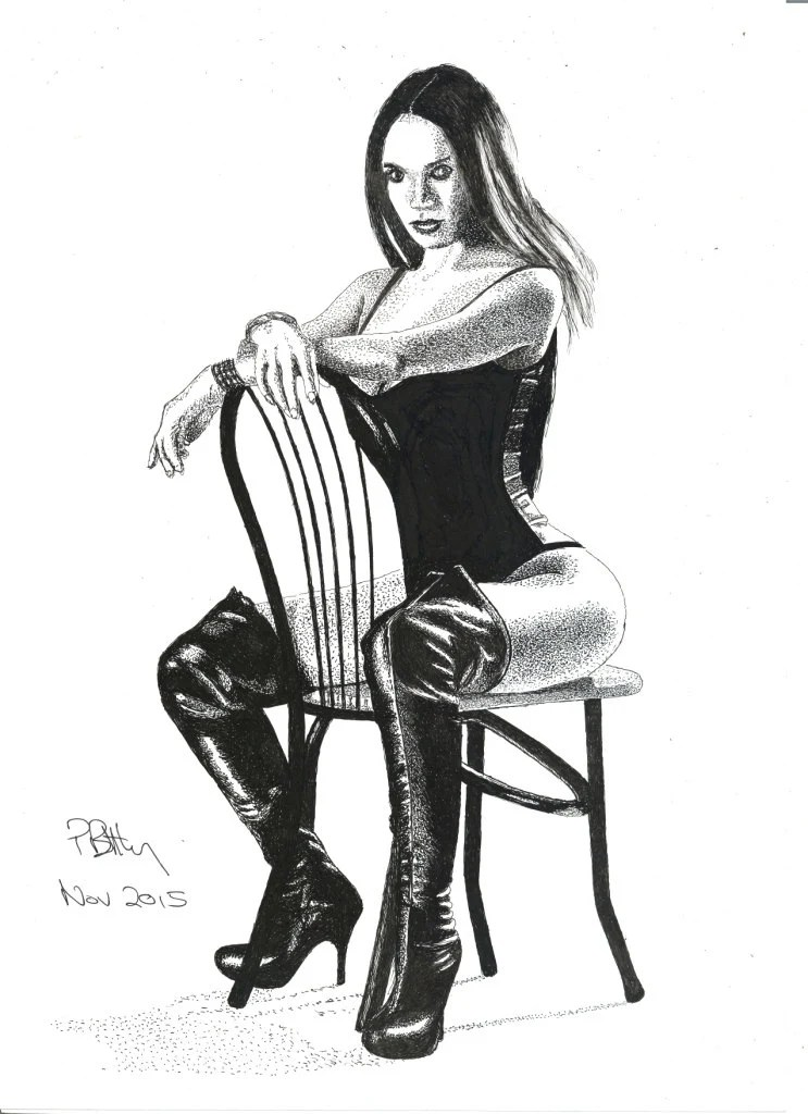 Art Print Pen & Ink Drawing A4 Kinky Boots
