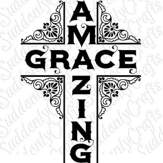 Amazing Grace Cross SVG by SuddenlyCrafts on Etsy