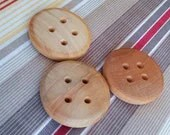 Handmade OMG birch wood buttons, 2in diameter