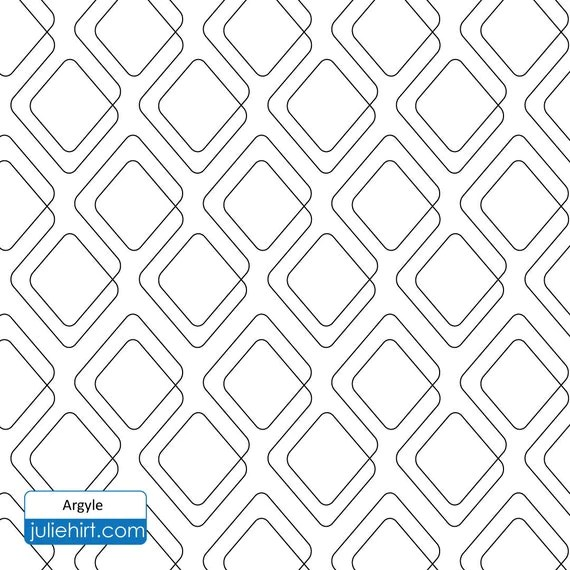 ARGYLE Longarm Quilting Digital Pattern for Edge to Edge and