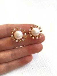 Big Pearl Stud EarringsBig Pearl StudsBig Pearl