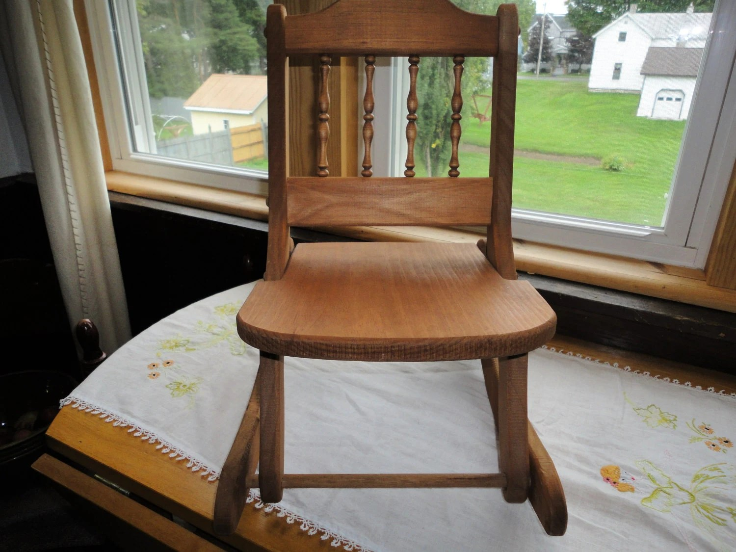 old fold up rocking chair space saving desk child 39s wooden folding doll